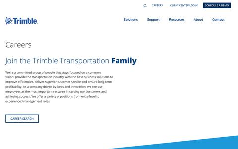 Screenshot of Jobs Page trimble.com - (2) New Messages! - captured May 5, 2019