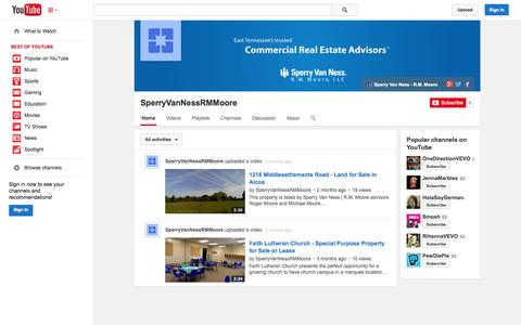 Screenshot of YouTube Page youtube.com - SperryVanNessRMMoore  - YouTube - captured Oct. 26, 2014