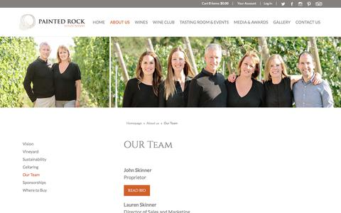 Screenshot of Team Page paintedrock.ca - Painted Rock - About Us - Team - captured Sept. 26, 2018