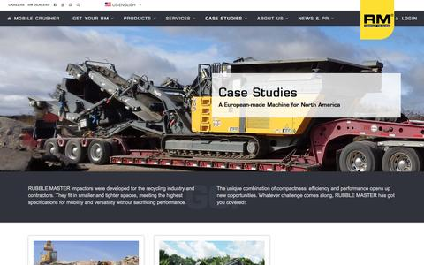 Screenshot of Case Studies Page rubblemaster.com - Case Studies - RUBBLE MASTER - captured Dec. 2, 2016