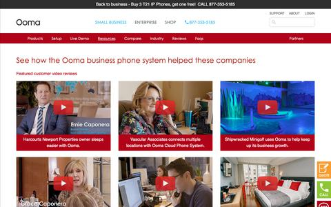 Screenshot of Case Studies Page ooma.com - Reviews Ooma SMB Phone Systems - Case Studies | Ooma - captured Feb. 23, 2019