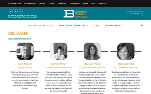 Screenshot of Team Page brooklynschooloflanguages.com - BSL - People - captured Aug. 4, 2018