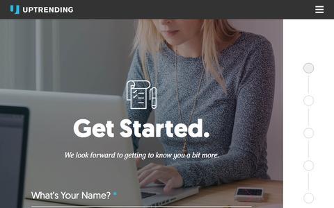 Screenshot of Contact Page uptrending.com - Get Started | UpTrending - captured Sept. 25, 2015