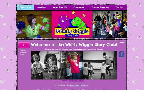 Screenshot of Home Page whirlywiggle.com - Whirly Wiggle Story Club Crawley, West Sussex - captured Oct. 7, 2014