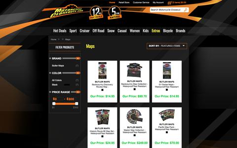 Screenshot of Maps & Directions Page motorcyclecloseouts.com - Motorcycle Closeouts - captured July 4, 2018