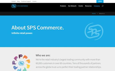 Screenshot of About Page spscommerce.com - About us | SPS Commerce - captured Dec. 4, 2015