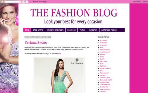 Screenshot of Blog onlineformals.com - The Fashion Blog! - captured Oct. 6, 2014