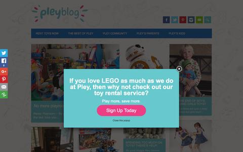 Screenshot of Blog pley.com - Pley Blog Ľ Smart parents rent toys - captured Nov. 21, 2015