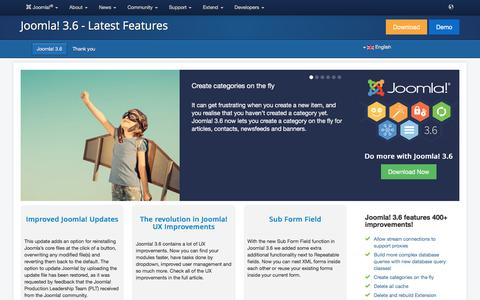 Joomla! 3.6 - Discover the new features added to the CMS Joomla! 3.6 - Joomla! 3.6 - Latest Features