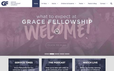 Screenshot of Home Page gfcfamily.com - Grace Fellowship Church | We Believe You Belong - captured Jan. 23, 2015