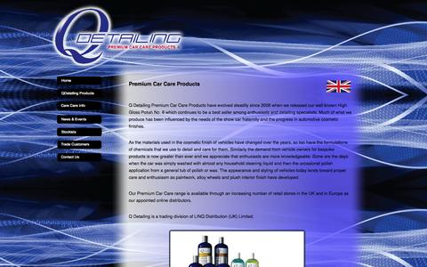 Screenshot of Home Page qdetailing.co.uk - QDetailing Premium Car Care Products - captured Oct. 1, 2014