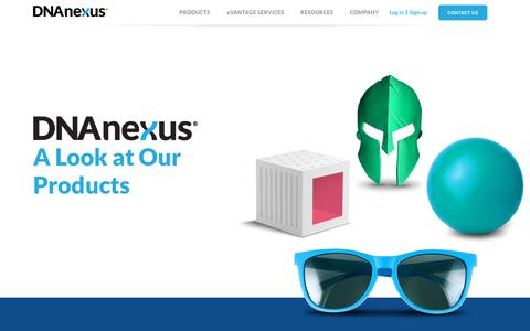 Screenshot of Products Page dnanexus.com - Products | DNAnexus - captured May 16, 2019