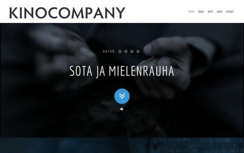 Screenshot of Home Page kinocompany.fi - KINOCOMPANY - captured June 5, 2016