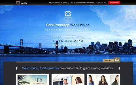 Screenshot of Home Page san-francisco-web-design.com - San Francisco Web Design | Website Designers | C3i3 Interactive - captured Sept. 3, 2015