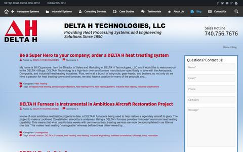 Screenshot of Blog delta-h.com - Blog - DELTA H TECHNOLOGIES - captured Oct. 5, 2014