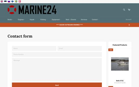 Screenshot of FAQ Page marine24.com - Contact form – MARINE24 - captured July 1, 2016