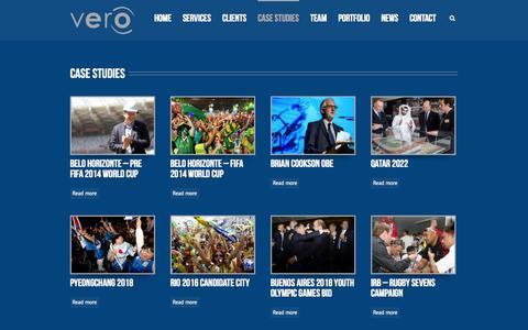 Screenshot of Case Studies Page verocom.co.uk - Vero Communications   –  Case Studies - captured Oct. 7, 2014