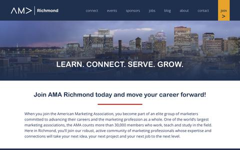 Screenshot of Signup Page amarichmond.org - Join the American Marketing Association Richmond Chapter - captured July 28, 2018