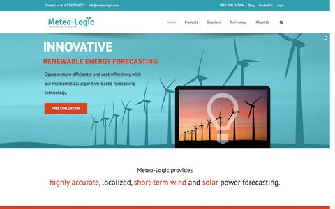 Screenshot of Home Page meteo-logic.com - Meteo-Logic - Weather Forecasting to the Point - captured Sept. 16, 2014