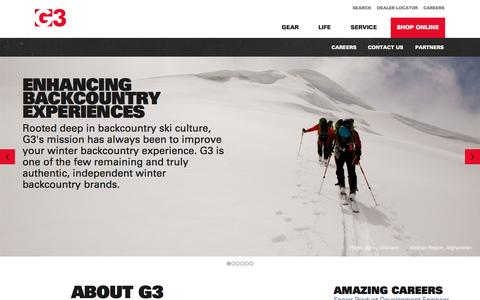 Screenshot of About Page genuineguidegear.com - G3 History & Mission | Genuine Guide Gear - captured Oct. 1, 2014