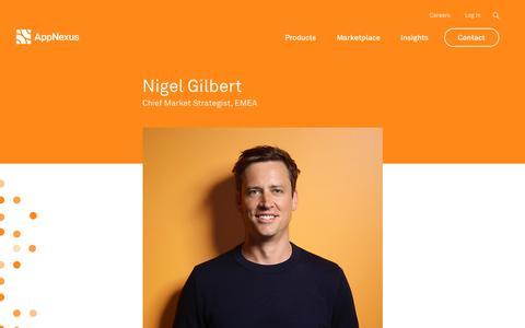 Screenshot of Team Page appnexus.com - Nigel Gilbert | AppNexus - captured June 22, 2018