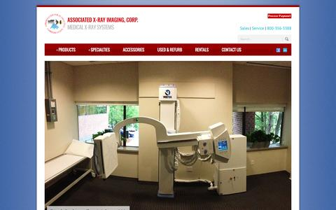 Screenshot of Home Page associatedxray.com - X-Ray Imaging Systems : Associated X-Ray Imaging Corporation - captured Nov. 21, 2016