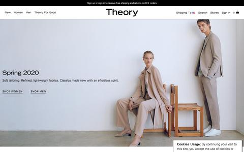 Screenshot of Home Page theory.com - Theory.com - captured Feb. 3, 2020