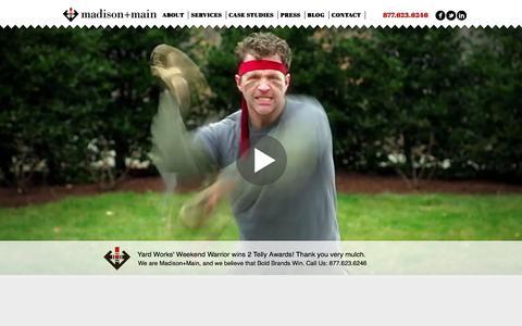 Screenshot of Home Page madisonmain.com - Digital Marketing, Social Media, Advertising Agency: Richmond, VA: Madison + Main - captured Dec. 21, 2015