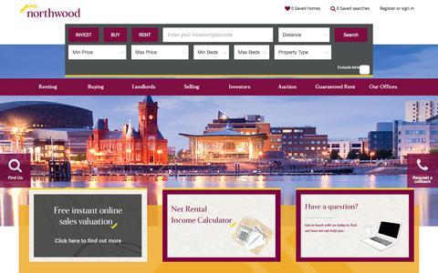 Screenshot of Home Page northwooduk.com - Estate Agents, Letting Agents   Northwood UK - captured Sept. 20, 2018