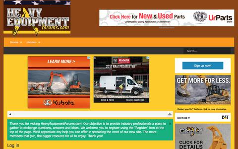 Screenshot of Login Page heavyequipmentforums.com - Log in | Heavy Equipment Forums - captured Nov. 18, 2017