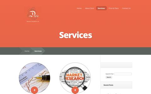 Screenshot of Services Page daric.co.uk - Services   daric.co.uk - captured Oct. 5, 2014