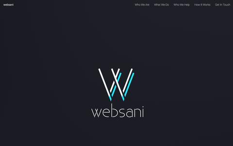 Screenshot of Home Page websani.com - websani - captured Dec. 21, 2016