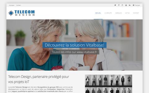 Screenshot of Home Page telecom-design.com - Telecom Design   Solutions pour l'Internet des Objets - captured Oct. 1, 2014