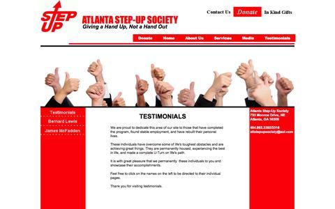 Screenshot of Testimonials Page atlantastepupsociety.org - Testimonials - captured Oct. 4, 2014