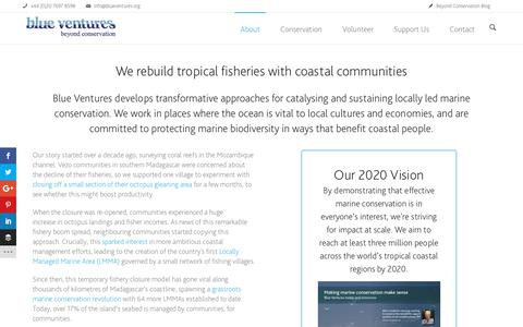 Screenshot of About Page blueventures.org - About Blue Ventures  »  Blue Ventures - captured Sept. 16, 2019