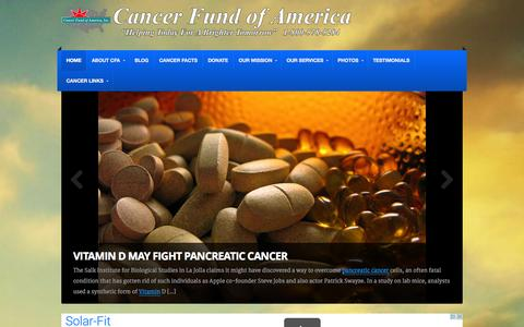 Screenshot of Home Page cfoa.org - Cancer Fund of America, Inc. - Cancer Support - captured Oct. 1, 2014