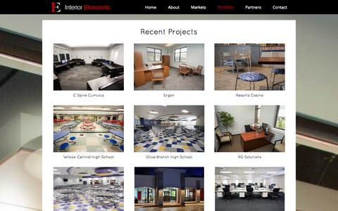 Screenshot of Case Studies Page in-elements.com - Porfolio | Recent Projects | Interior Elements - captured Oct. 27, 2014
