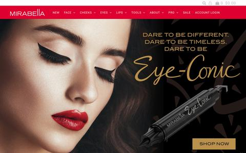 Screenshot of Home Page mirabellabeauty.com - Mineral Makeup Products, Quality Cosmetics for Today's Woman - Mirabel – Mirabella Beauty - captured Dec. 21, 2018