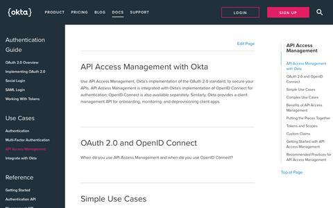 API Access Management   Okta Developer