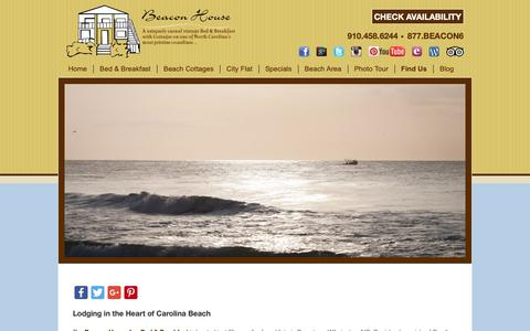Screenshot of Contact Page Maps & Directions Page beaconhouseinnb-b.com - Bed and Breakfast Lodging near Downtown Wilmington NC - captured Oct. 5, 2018