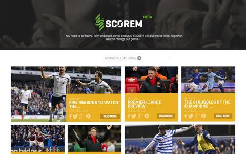 Screenshot of Home Page scorem.co.uk - Scorem™ Magazine - Scorem - captured July 21, 2015