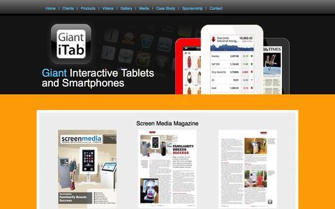 Screenshot of Press Page giantitab.com - Media - captured Sept. 29, 2014