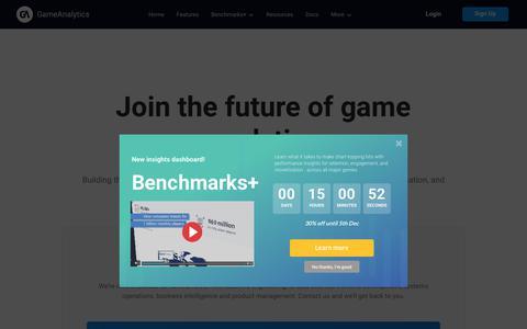 Screenshot of Jobs Page gameanalytics.com - Careers   Analytics Built for Games   GameAnalytics - captured Dec. 5, 2019
