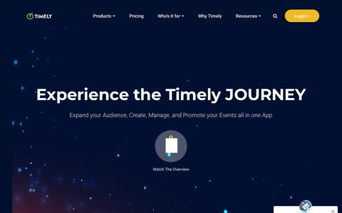 Screenshot of Products Page time.ly - Timely Website Events Calendar - Timely - captured June 18, 2019