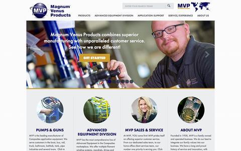 Screenshot of Home Page mvpind.com - Magnum Venus Products - - captured Oct. 4, 2014
