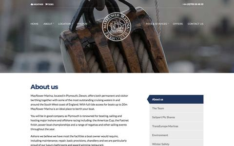 Screenshot of About Page mayflowermarina.co.uk - Mayflower Marina | Marina Plymouth | Marina South West | 5 Gold Anchor Marina - captured Sept. 20, 2018