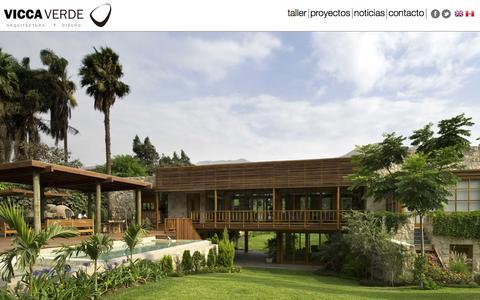 Screenshot of Home Page viccaverde.com - Vicca Verde - Dise単o y Arquitectura - Home - captured Feb. 23, 2016