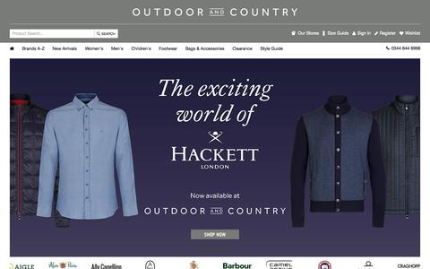 Screenshot of Home Page outdoorandcountry.co.uk - Clothing, Jackets, Footwear, Wellies & More | Outdoor and Country - captured Oct. 16, 2015