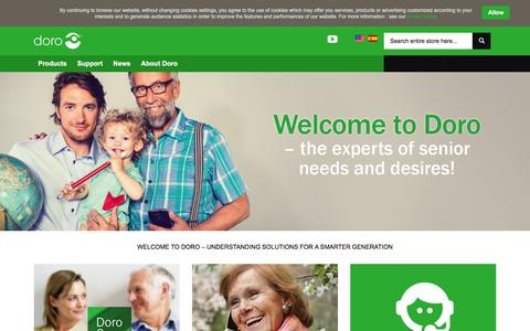 Screenshot of Home Page dorousa.us - Doro - Easy Phones - Smartphones for seniors - captured Feb. 9, 2016