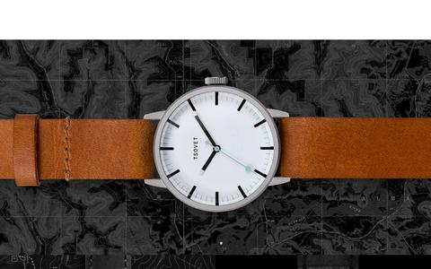Screenshot of About Page tsovet.com - TSOVET : We�re passionate about designing and building watches. - captured Oct. 27, 2015